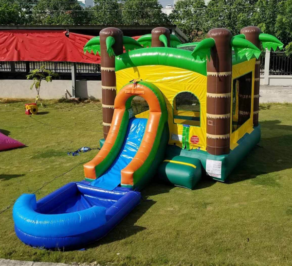 Tropical Bounce House with Slide
