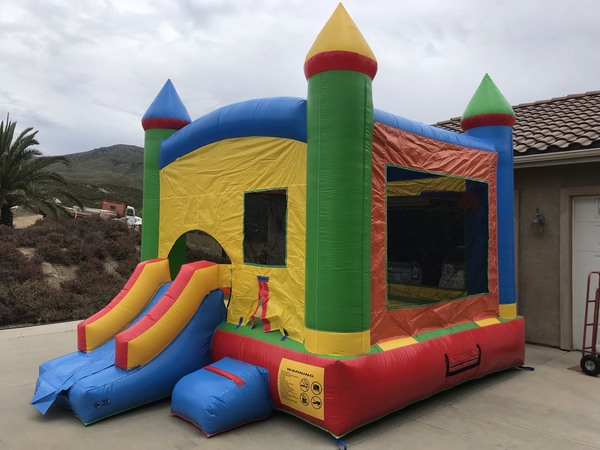 Mini Combo Bounce House with Slide