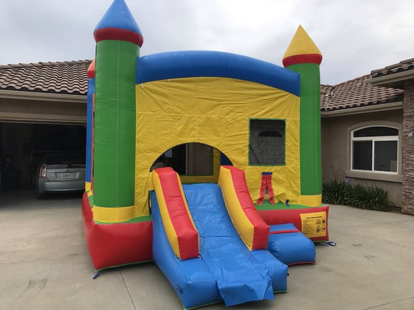 Mini Combo Bounce House with Waterslide and Pool